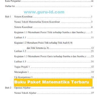 gambar Buku paket matematika SMP KTSP 2006 dan kurikulum 2013 Revisi Tahun 2017/2018
