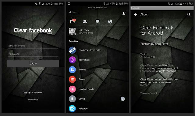 تحميل تطبيق فيس بوك Facebook شفاف للاندرويد أخر إصدار 2018