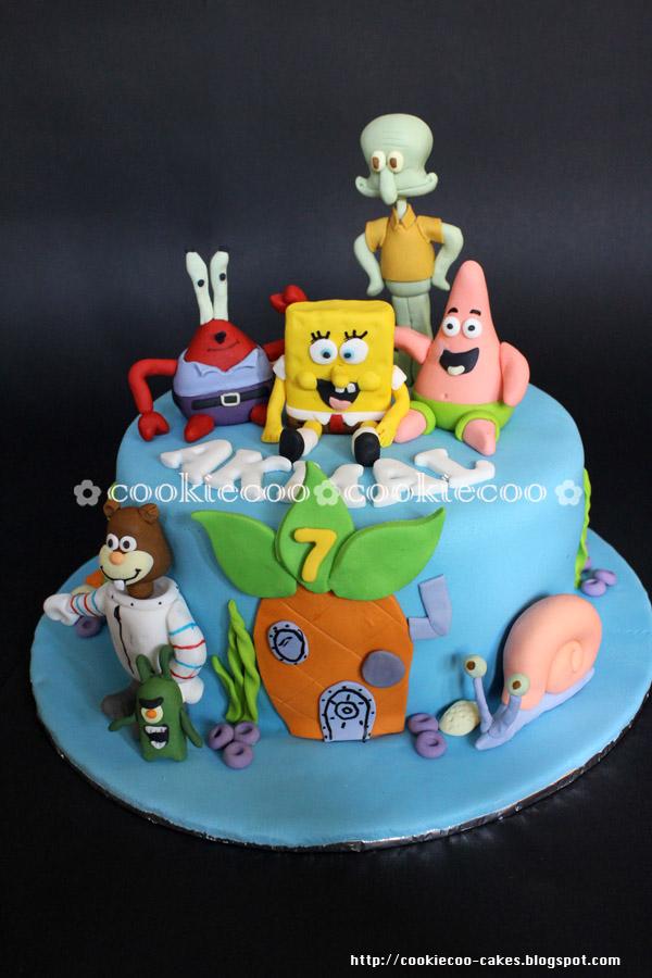Cookiecoo Spongebob Cake For Akmal