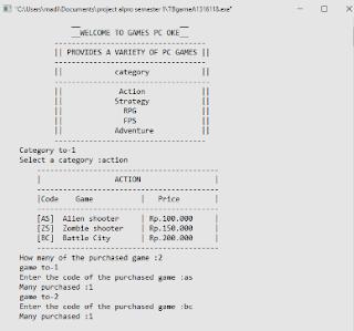 Tugas Besar C++ Array 2 Dimensi Penjualan Game