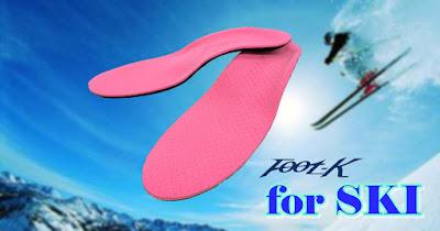 スキーで大切なバランス重視のFoot-Kインソール ノンオーダーモデル スキー仕様