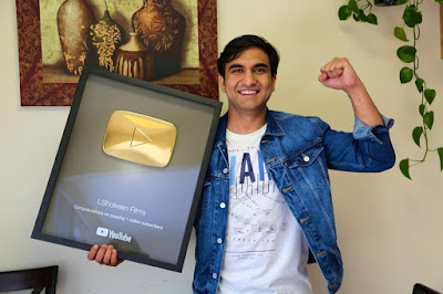 lalit shokeen golden button from youtube