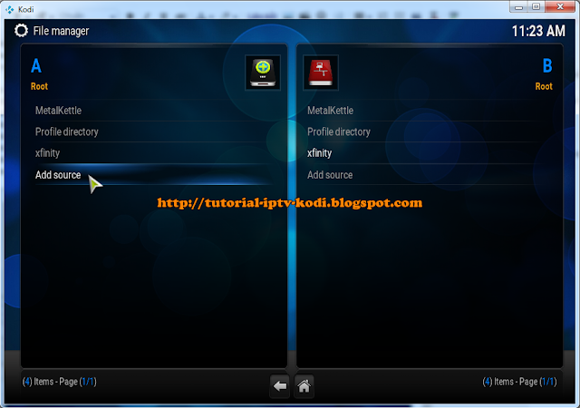 select Add source to Install Fusion Repository for Kodi