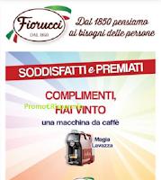 Logo Con Fiorucci vince subito una Macchina da caffè Magia Lavazza! gioca anche tu.