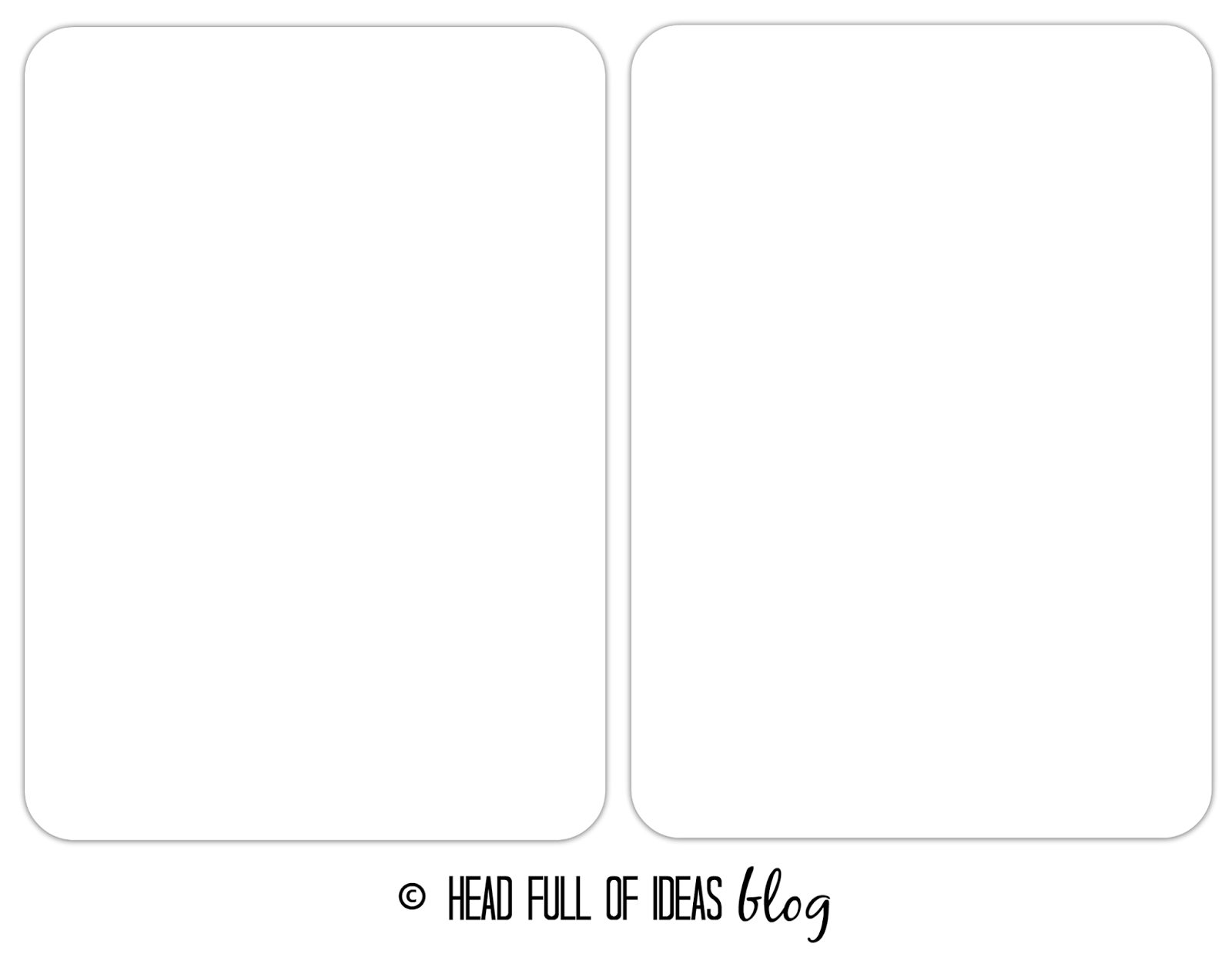 flashcards template, DIY, PicMonkey online, tutorial, Head Full of Ideas