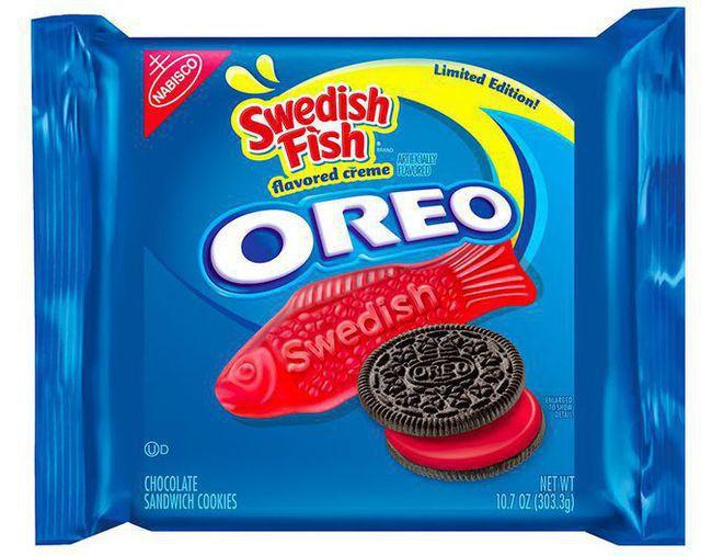 Dying for chocolate chocolate bytes swedish fish oreos for Swedish fish oreos