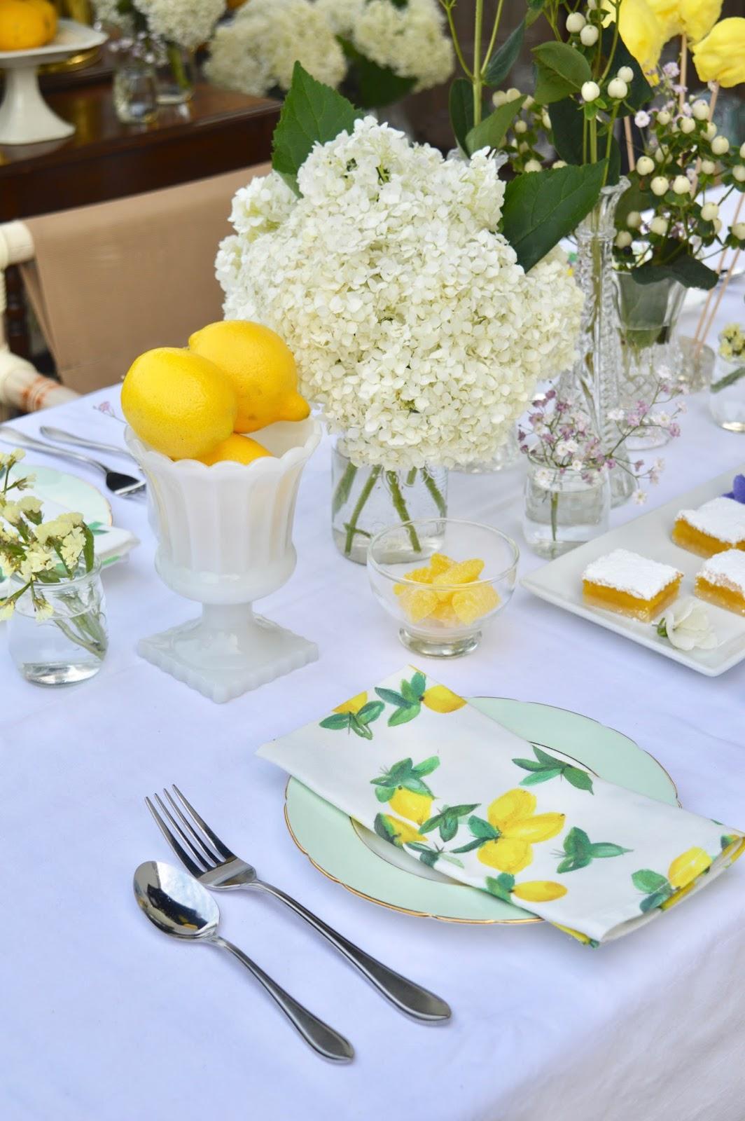 lemon print towels