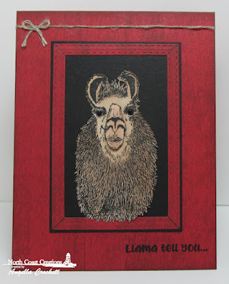 North Coast Creations Stamp Set: Llama Tell You, ODBD Custom Dies: Double Stitched Rectangles