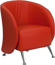 Jet Series Red Leather Lounge Chair