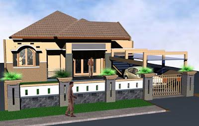 model desain pagar rumah minimalis modern - fahriemje blog