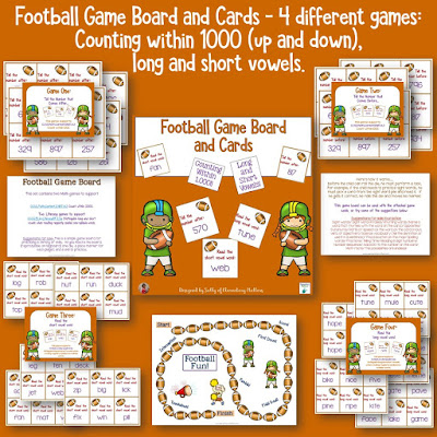 It's Super Bowl time! Take advantage of the children's enthusiasm and let them enjoy some football themed learning experiences!