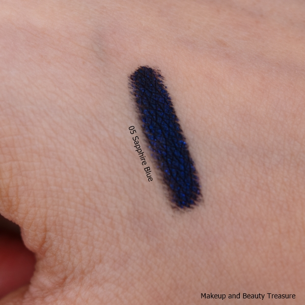 swatch of L'Oreal Paris super liner gel intenza
