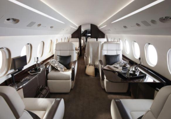 Dassault Falcon 2000LXS interior