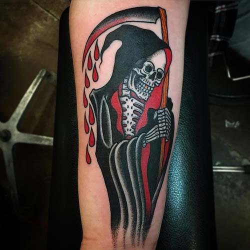 bloody grim reaper tattoos azrail dövmeleri