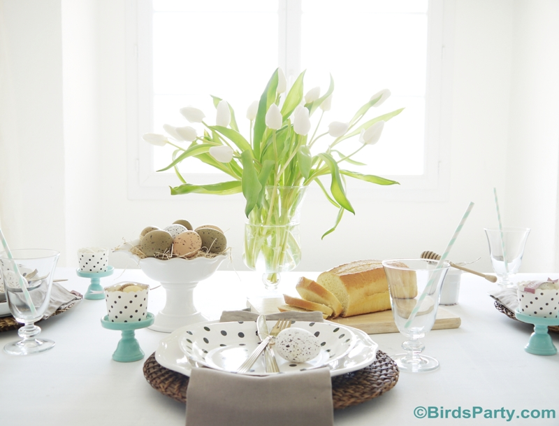 Easter Brunch Tablescape Ideas - BirdsParty.com