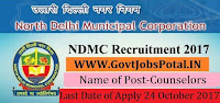 North Delhi Municipal Corporation Recruitment 2017– 172 Counselors