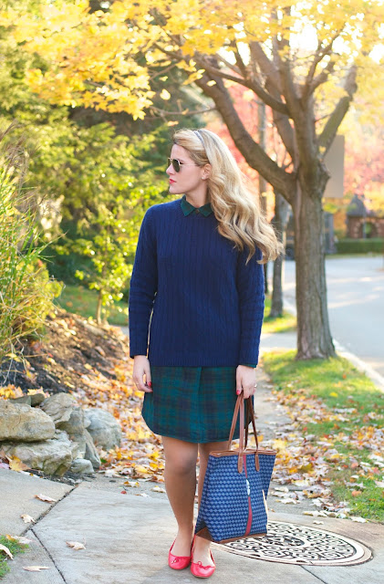 preppy fall outfit idea