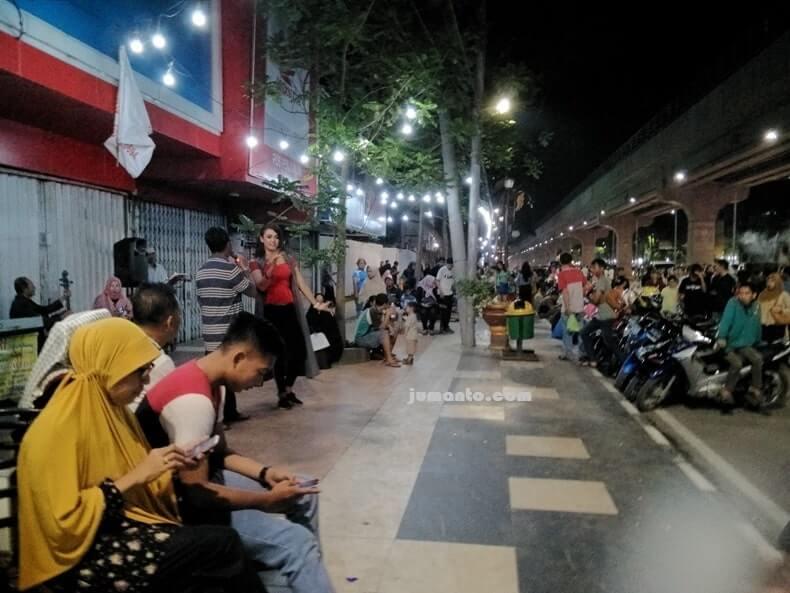 Sudirman Walk Tempat Wisata Malam di Palembang