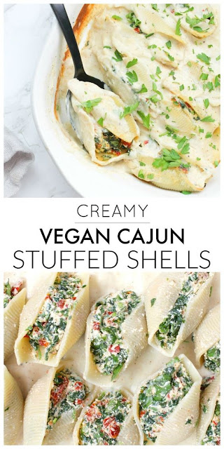 CREAMY VEGAN CAJUN STUFFED SHELLS
