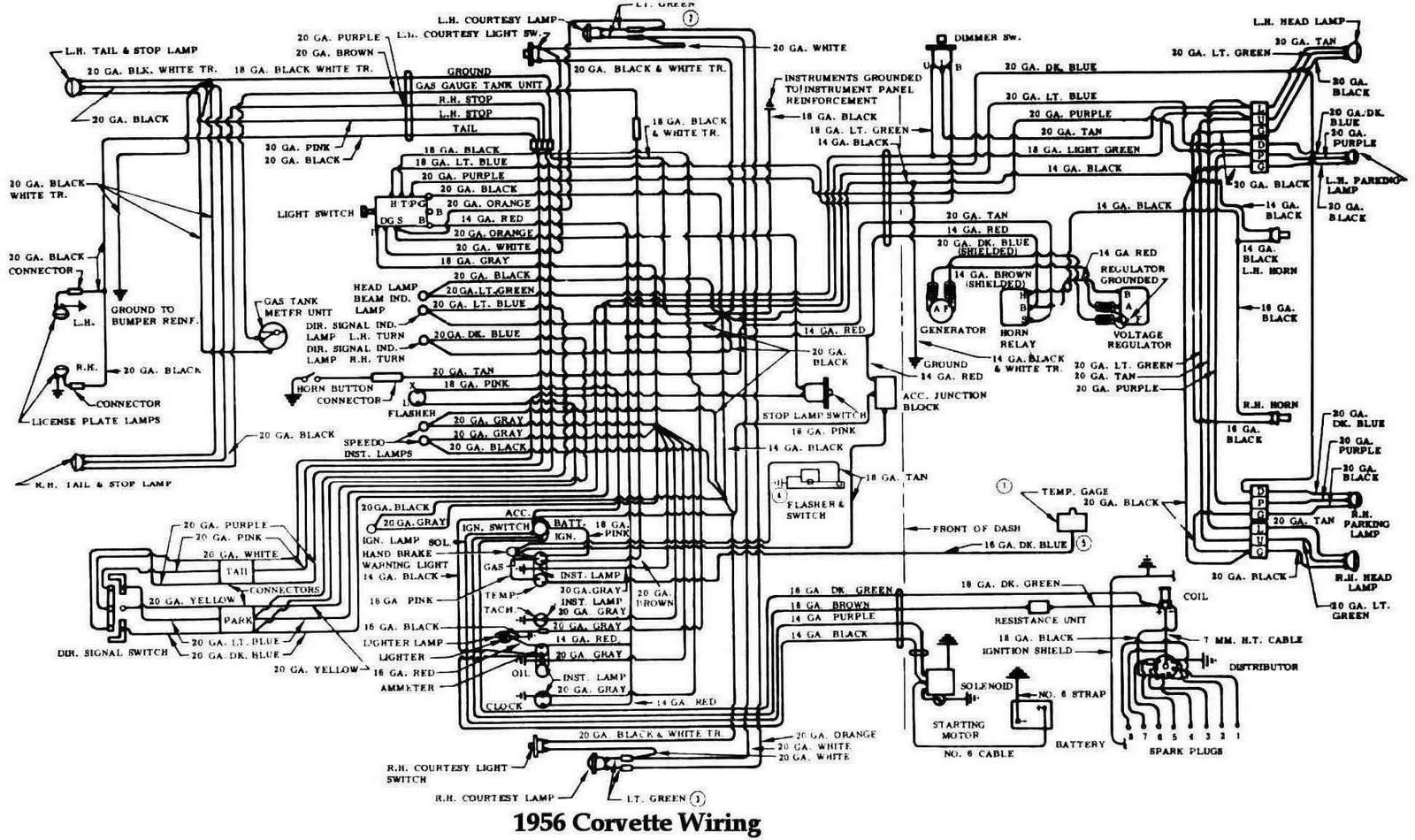 65 Vette Wiring Diagram Auto Electrical Diagrams Of 1964 Chevrolet Corvair Greenbrier Corvette 1956