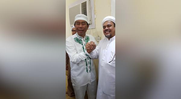 Di Sela-Sela Ibadah Umrah, Haji Lulung Silaturahmi dengan Habib Rizieq