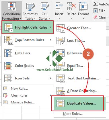 Cara Menemukan Duplikat Data Excel 2