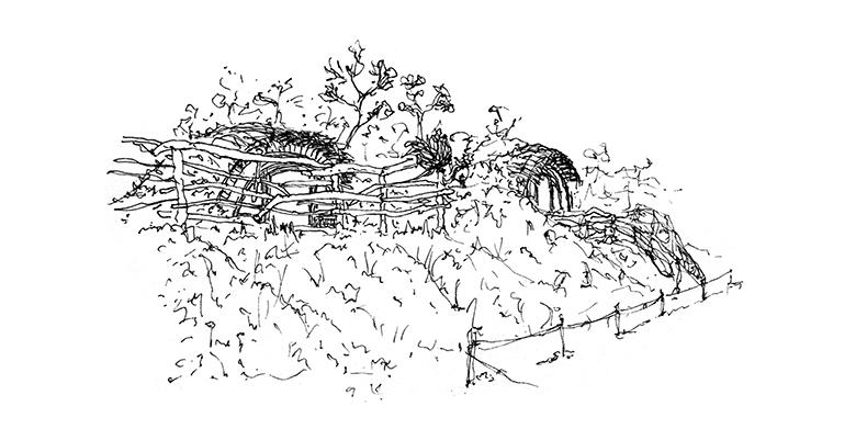 dibujo, Casas-Hobbit