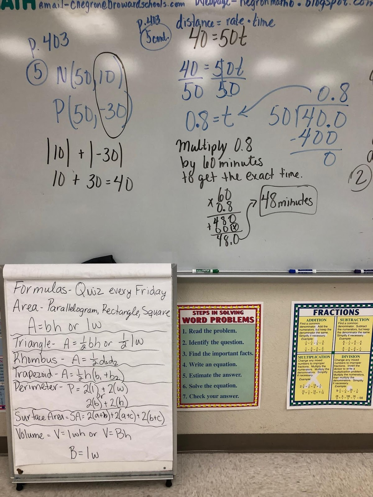 Mrs Negron 6th Grade Math Class Lesson 14 1 Distance In