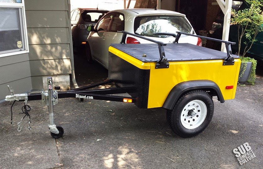 Our yellow Dinoot Micro Trailer