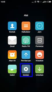 Cara aktifkan dan menonaktikan Fitur cari perangkat pada Hp Xiaomi.