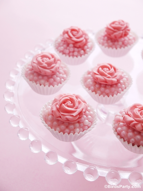 Bejeweled Pink Rose Truffles Recipe - BirdsParty.com