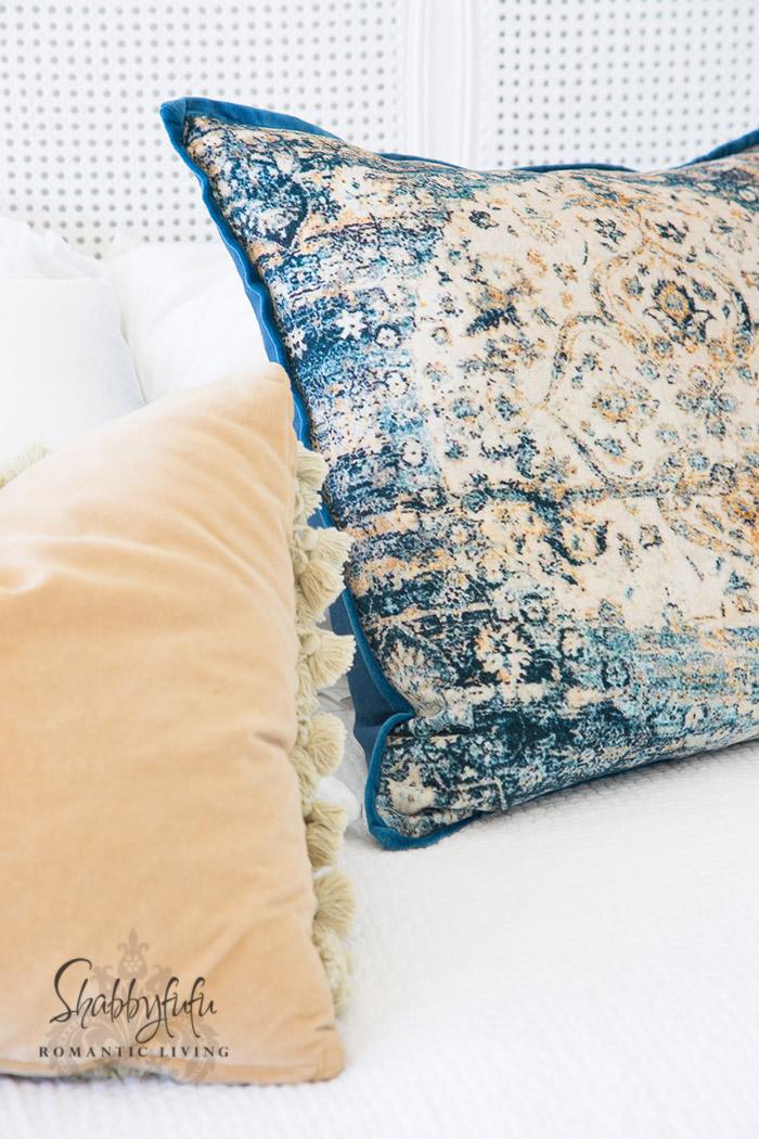 boho velvet pillows