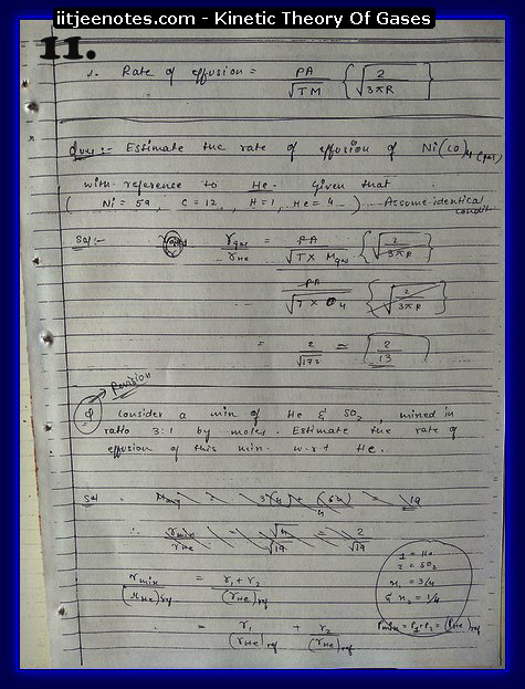 Kinetic Theory Of Gases11