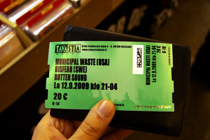 Финские концерты: Municipal Waste, Rotten Sound, Disfear, Ajattara, Mind of Doll
