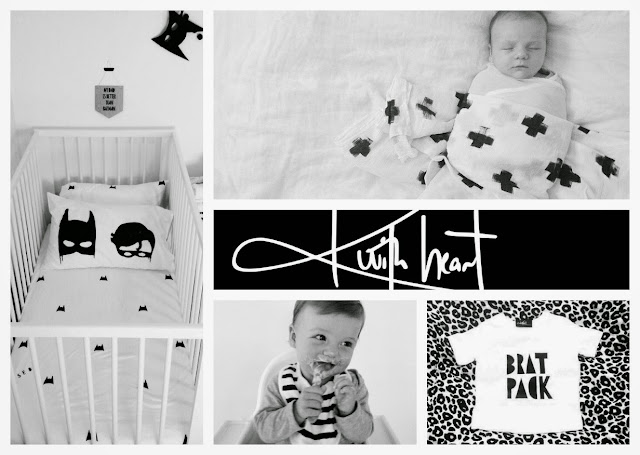 Chamomile and Peppermint Blog - Karrie-Anne from KwithHeart - Modern Designs for Spunky Bubs - Hand printed baby wraps, tees, sheet sets and swaddles. Batman and robin, pineapple, diamond, cross, modern..