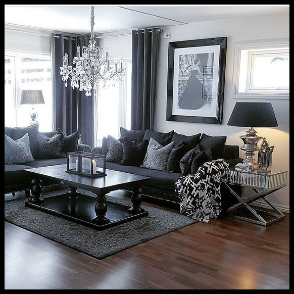 Living Room Ideas With Dark Grey Sofa