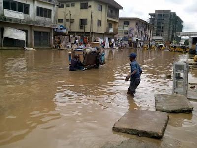 See The Horrible Condition Of The Road That Leads To Popular Ariaria Market In Aba.