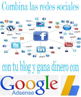 Combina las redes sociales con tu blog y gana dinero con Google AdSense