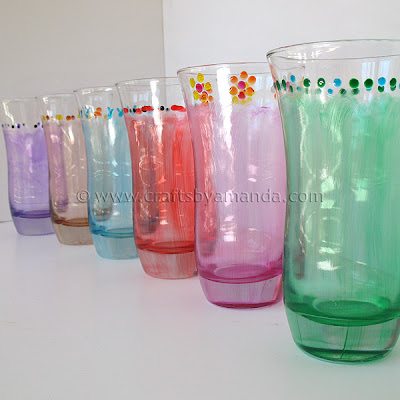 Crystal Enamel Drinking Glasses