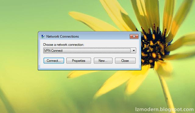 Cara Mengkoneksi VPN di Windows 7
