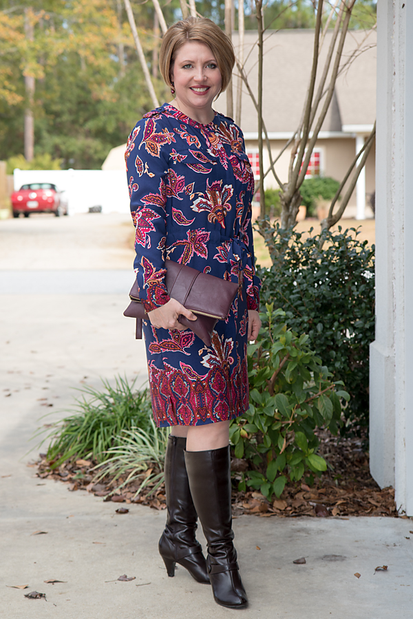 Print dress and Popsugar Must Have Box