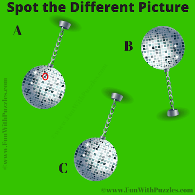 Answer of Spot the Different ball Picture Riddle for Teens