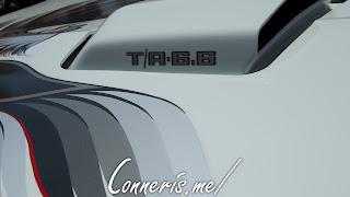 White Pontiac Trans Am Hood Details