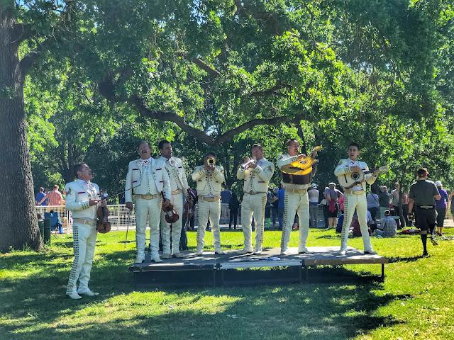 American River Parkway Half Marathon mariachi band