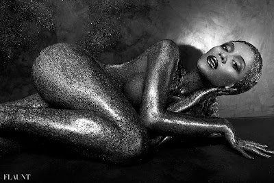 Beyonce Flaunt Magazine 2 Naked and covered in glitter; Beyonce transforms for Flaunt Magazine