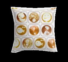 Coffee Fantasy throw pillow in Redbubble