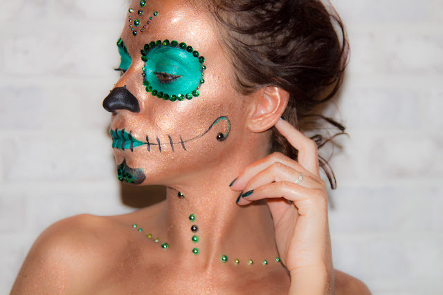 maquillage - halloween - calavera