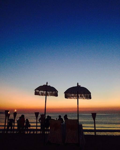 sunset di pantai kedonganan