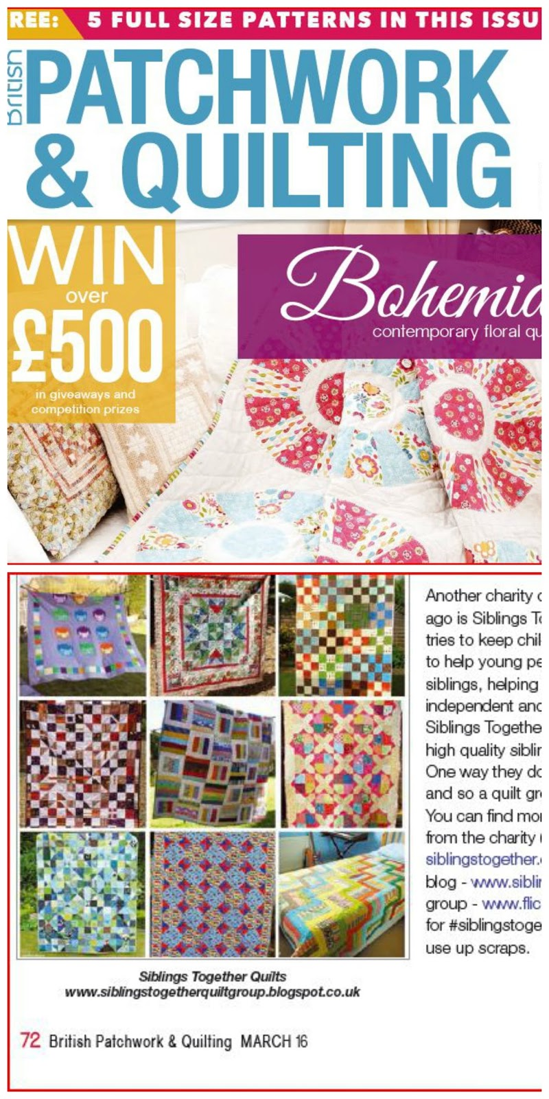 Siblings Together Quilt Group March 2016
