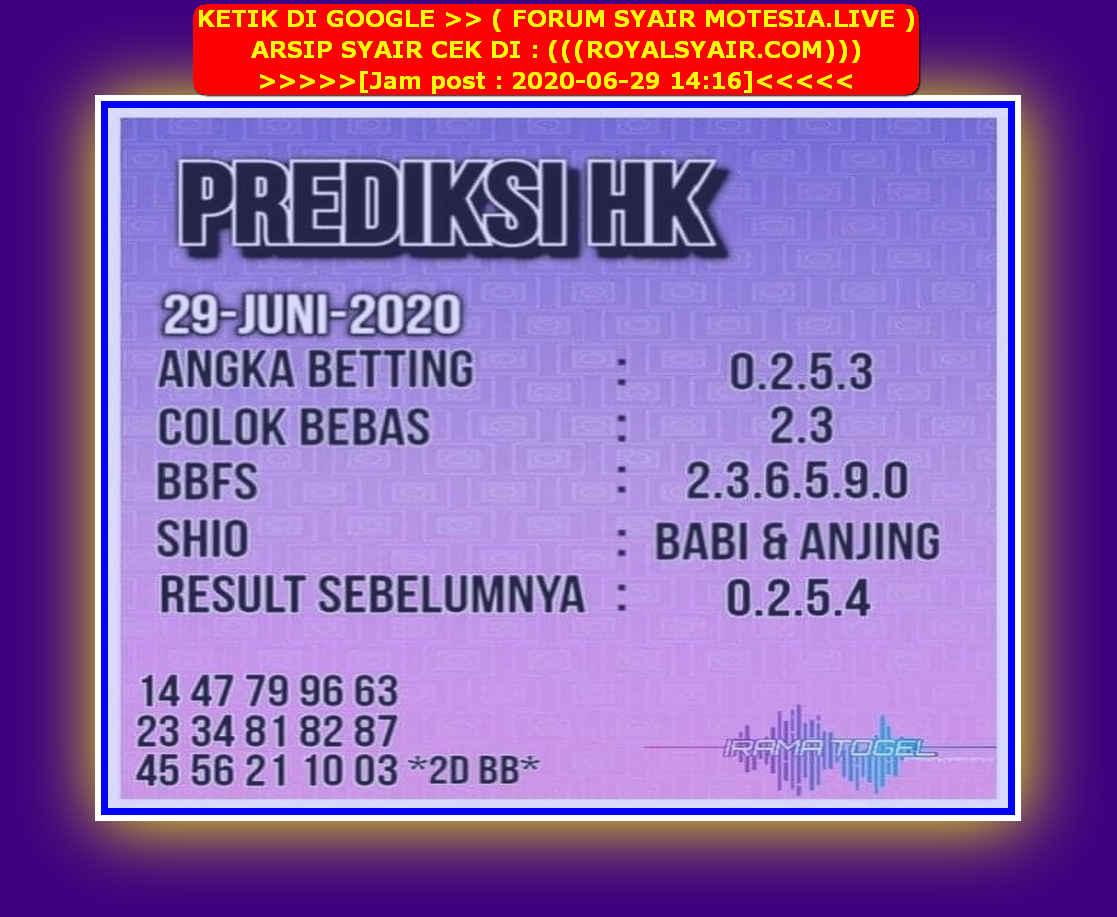 Kode syair Hongkong Senin 29 Juni 2020 250